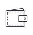 wallet casefinance line icon sign vector image