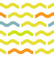 waves geometric seamless pattern simple summer vector image vector image