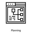 web planning structure vector image vector image