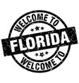 welcome to florida black stamp vector image vector image