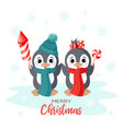 winter holiday christmas card with smiling vector image