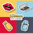 women fashion accesories vector image