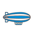 zeppelin icon blimp isolated on white side view vector image