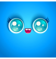 blue face vector image