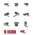grey security camera icon set vector image