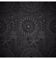 black floral lace wallpaper vector image