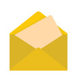 flat yellow mail letter icon vector image