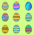 set of style easter egg vector image