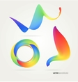 Abstract creative colorful lines and shapes vector image vector image
