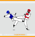 Athlete Taekwondo fighters vector image vector image