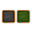 black and green square school blackboards vector image vector image