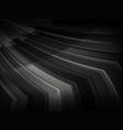 black and white geometric background with stripes vector image vector image