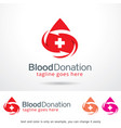 blood donation logo template vector image vector image