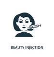botox icon from plastic surgery collection simple vector image vector image