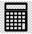 Calculator simple sign Flat style black icon on vector image vector image