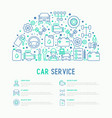 car service concept in half circle vector image