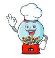 chef gumball machine character cartoon vector image vector image