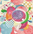 Colorful Abstract Pattern in a Modern Style with vector image