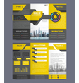 Company Report Flyer Templates vector image vector image