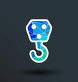 crane hook icon button logo symbol concept vector image vector image