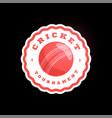 cricket circle logo modern professional vector image vector image
