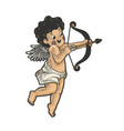 cupid with bow sketch vector image