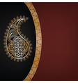 dark background with golden paisley vector image vector image