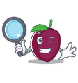 detective plum character cartoon style vector image vector image