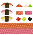 diy set of nigiri sushi vector image