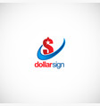 dollar sign money business logo vector image vector image