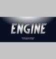engine alphabet modern typography vector image vector image