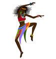 Ethnic dance african woman vector image vector image