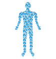 euro checkbook person figure vector image