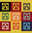fallout shelter vintage nuclear symbol vector image vector image