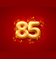 festive ceremony balloons 85th numbers balloons vector image vector image