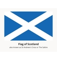 Flag of Scotland also known as St Andrews Cross or vector image vector image