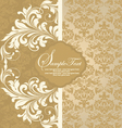 Floral damask invitation card vector | Price: 1 Credit (USD $1)
