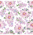 floral seamless background flower spring bouquet vector image vector image