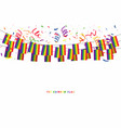gay flag or lgbt garland flag with confetti vector image