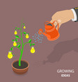 growing ideas flat isometric concept vector image vector image