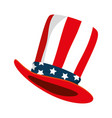 hat with united states america flag vector image vector image