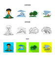 isolated object of natural and disaster sign vector image