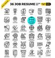 Job Resume Icons vector image