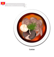 Lamian or Chinese Style Noodle Soup with Beef vector image vector image