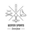 line banner winter sports vector image