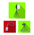 making a movie flat icons in set collection for vector image vector image