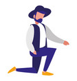 male flamenco dancer character vector image vector image