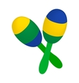 Maracas icon in isometric 3d style vector image vector image