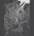 monochrome detailed plan city of belfast vector image