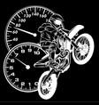 motocross rider silhouette in black vector image